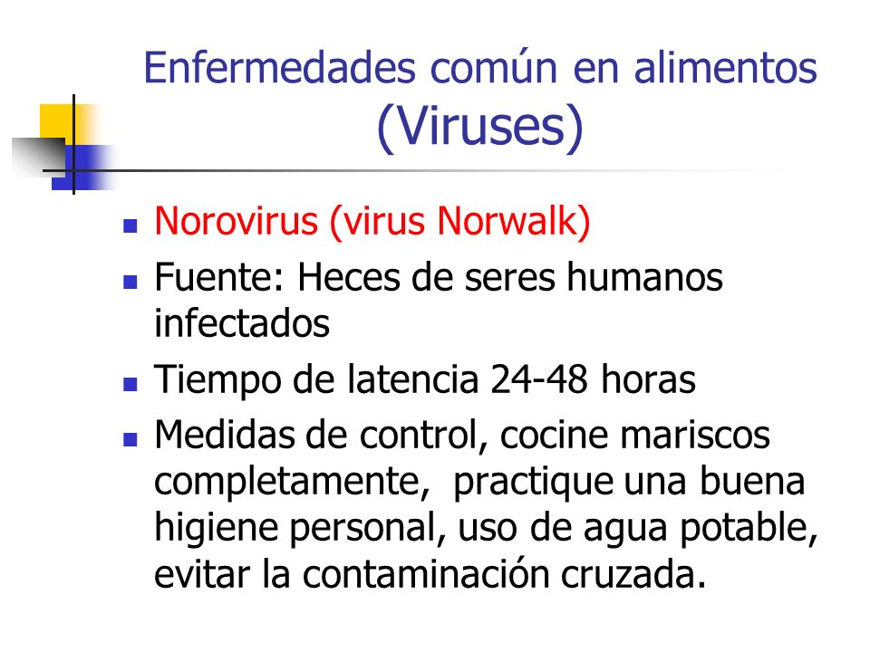 Enfermedades común en alimentos (Viruses)