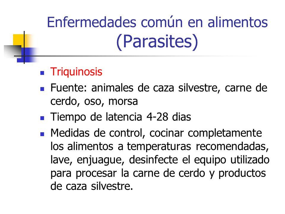 Enfermedades común en alimentos (Parasites)