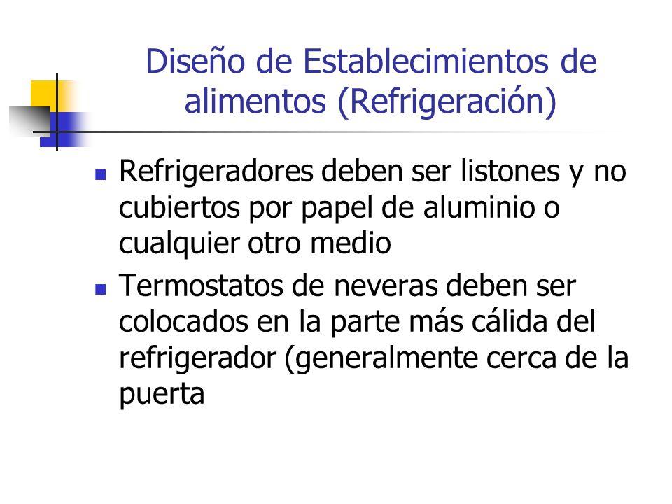Diseño de Establecimientos de alimentos (Refrigeración)