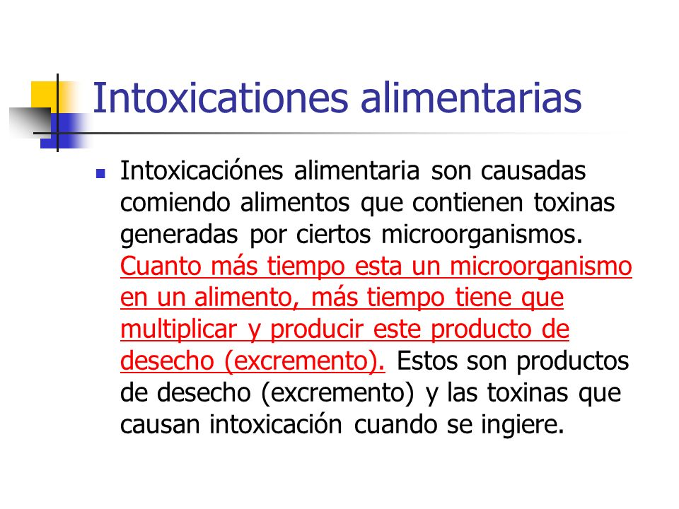 Intoxicationes alimentarias