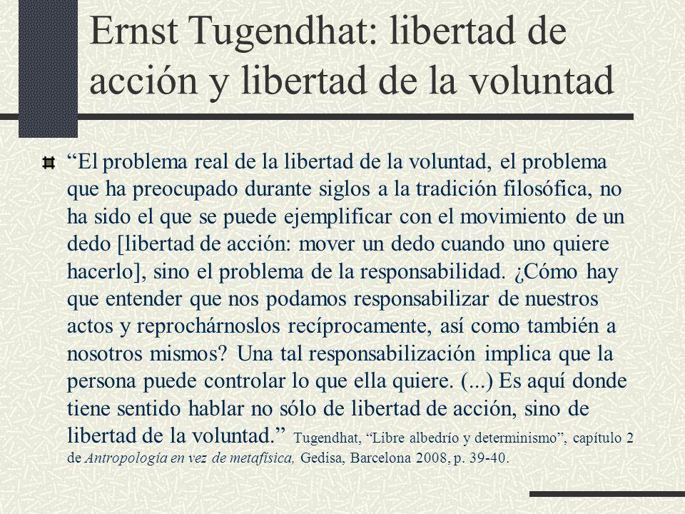 Ernst Tugendhat: libertad de acción y libertad de la voluntad