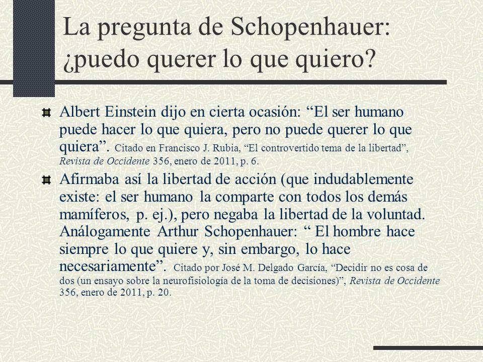 La pregunta de Schopenhauer: ¿puedo querer lo que quiero