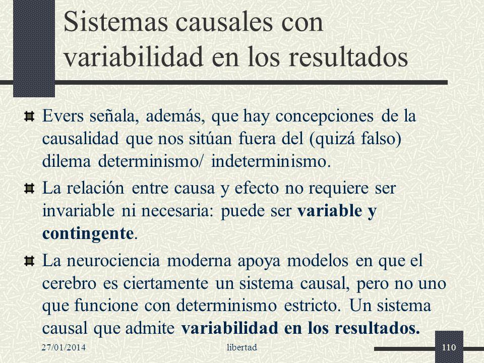 Sistemas causales con variabilidad en los resultados