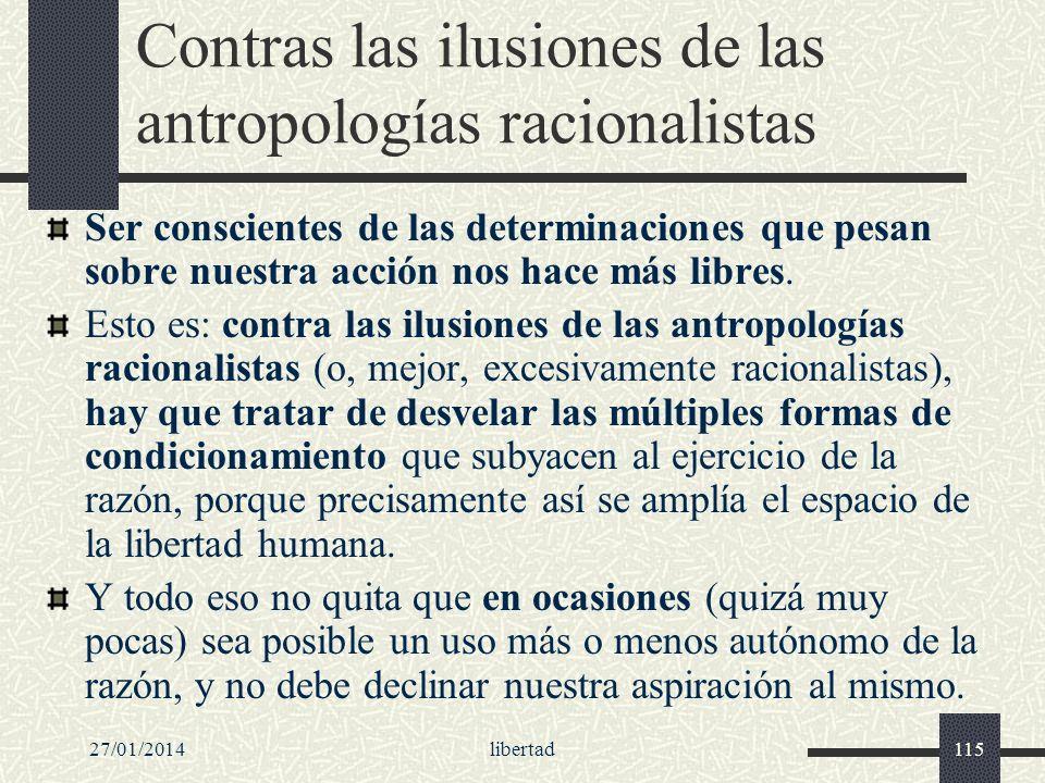 Contras las ilusiones de las antropologías racionalistas