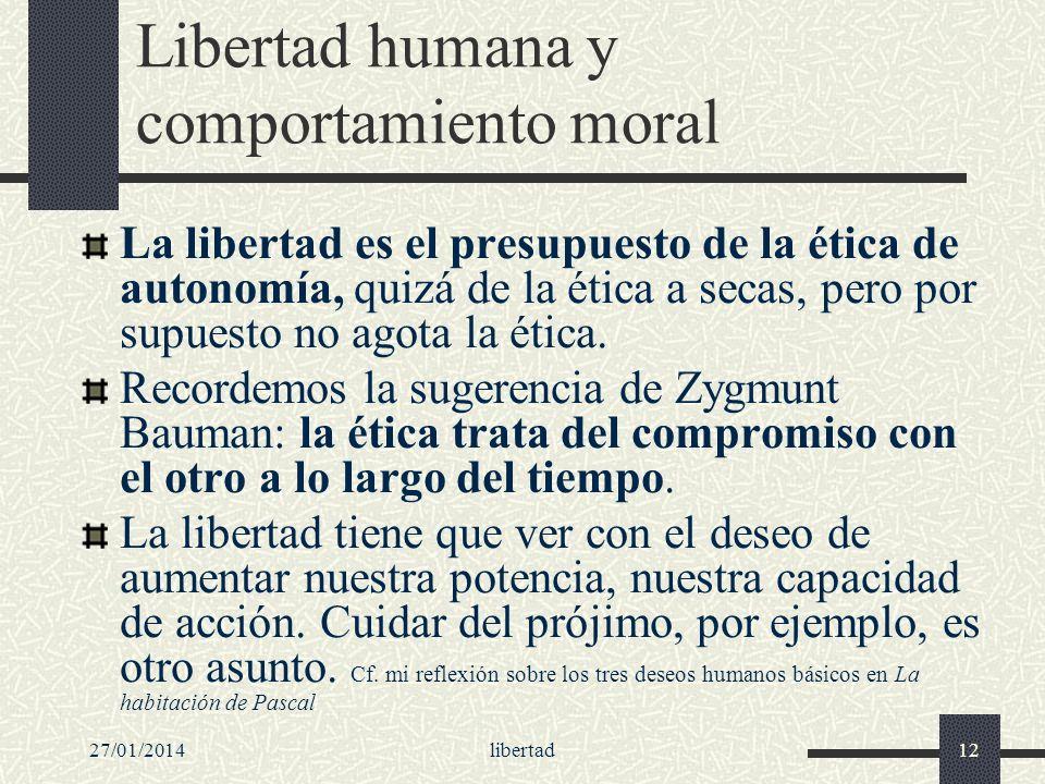 Libertad humana y comportamiento moral