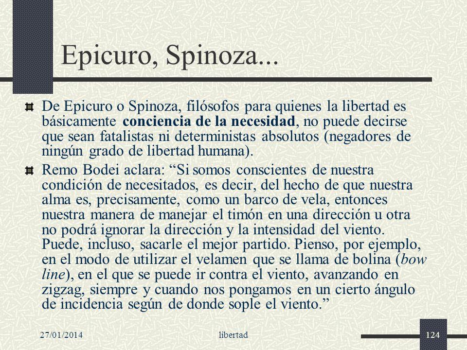 Epicuro, Spinoza...