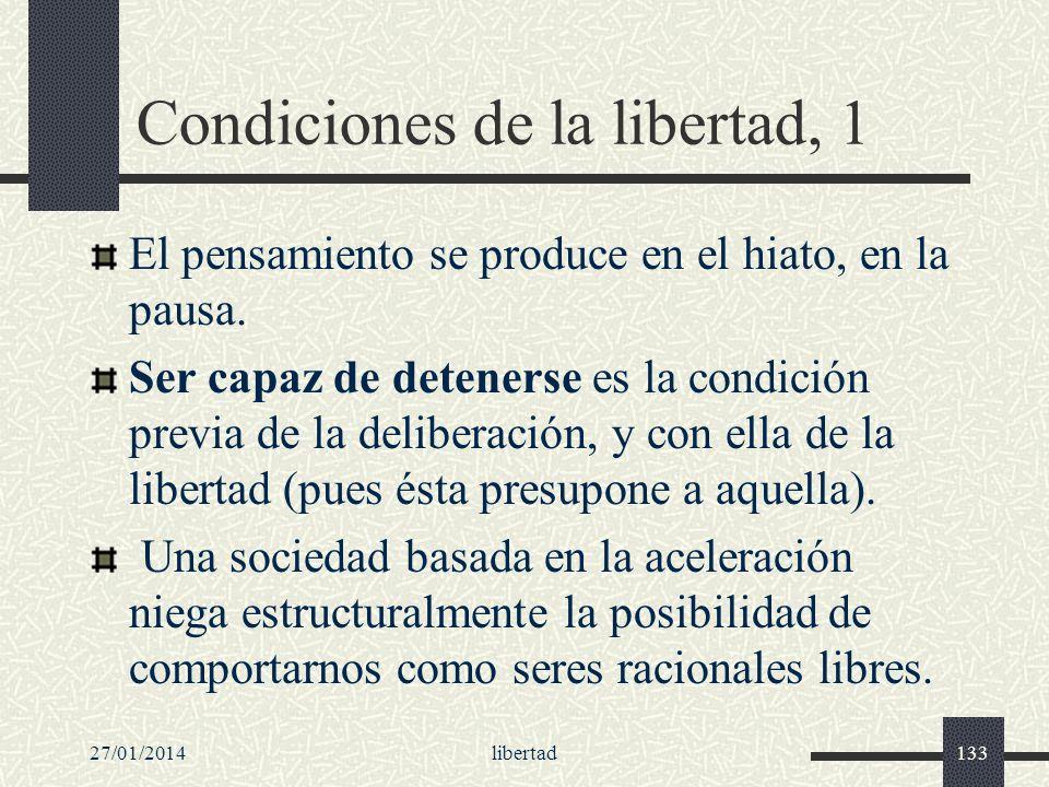 Condiciones de la libertad, 1