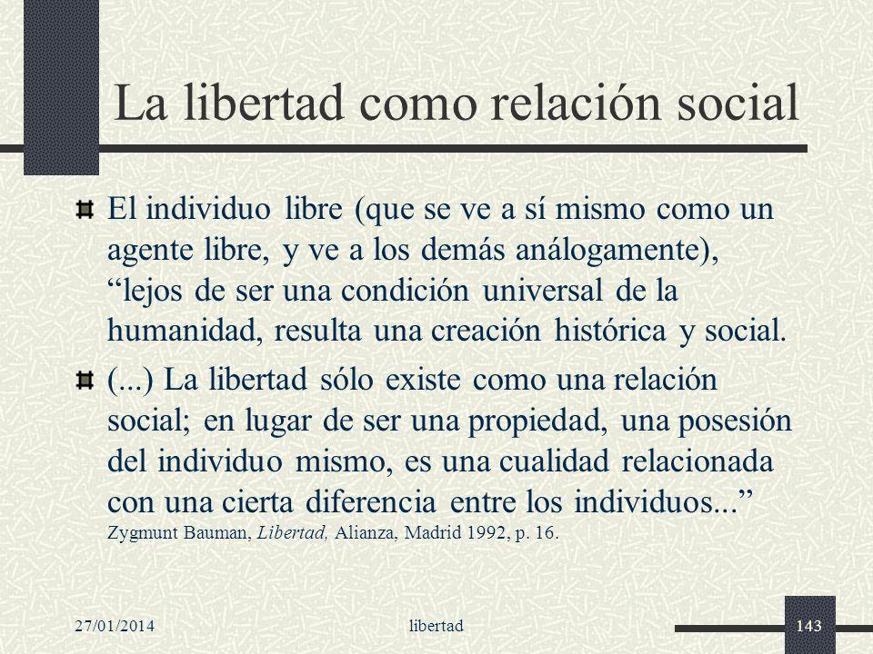 La libertad como relación social