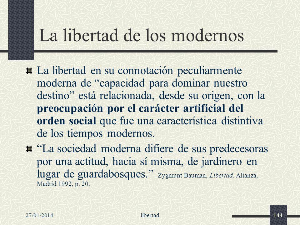 La libertad de los modernos