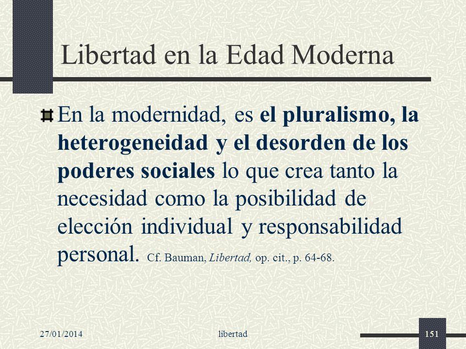 Libertad en la Edad Moderna