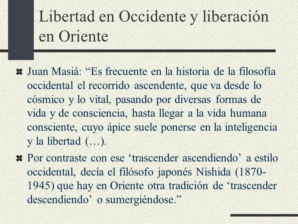 Libertad en Occidente y liberación en Oriente
