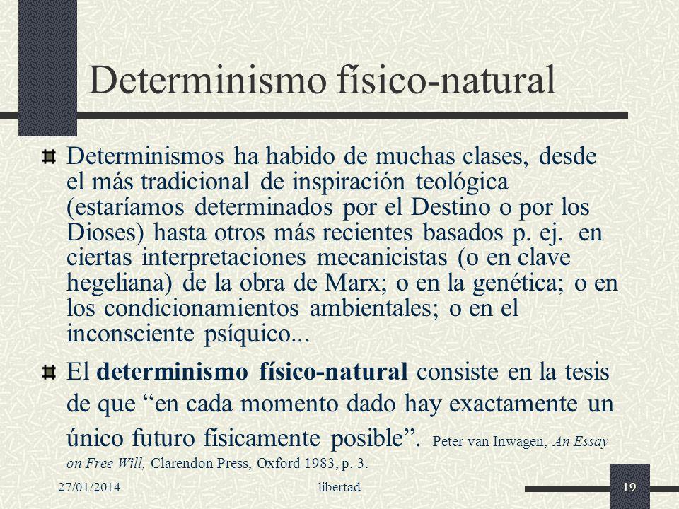 Determinismo físico-natural