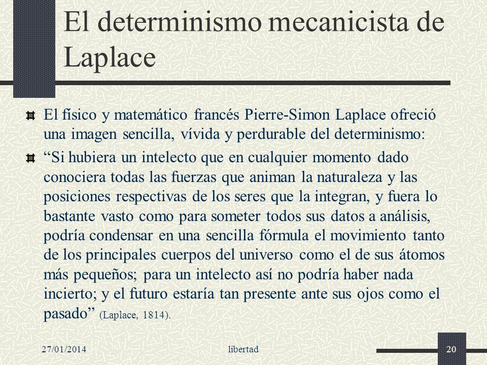 El determinismo mecanicista de Laplace