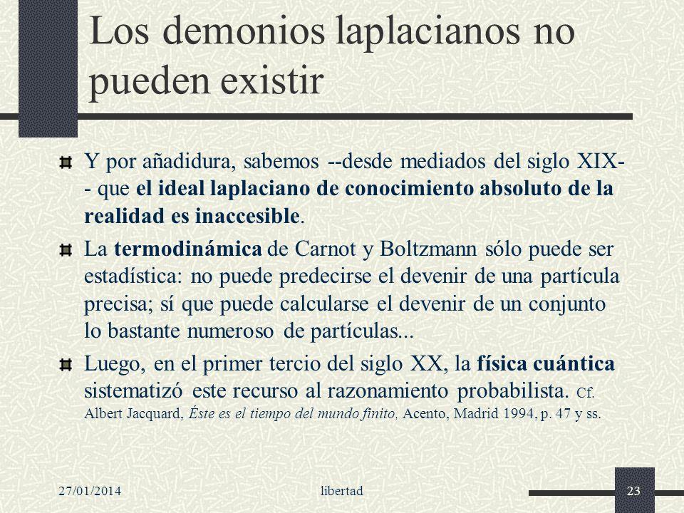 Los demonios laplacianos no pueden existir