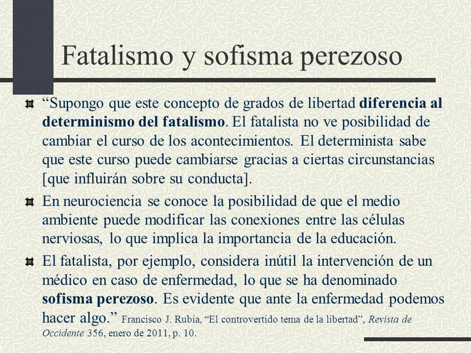 Fatalismo y sofisma perezoso