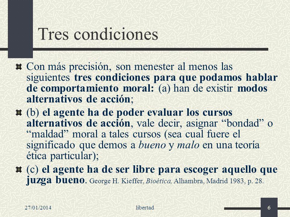 Tres condiciones