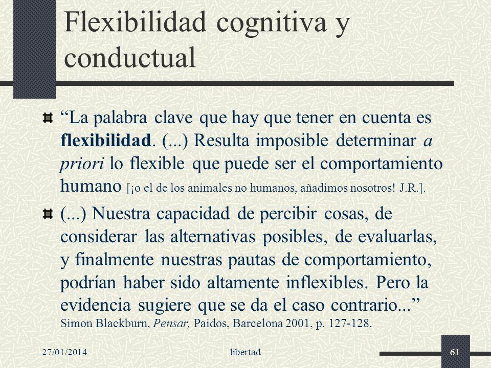Flexibilidad cognitiva y conductual