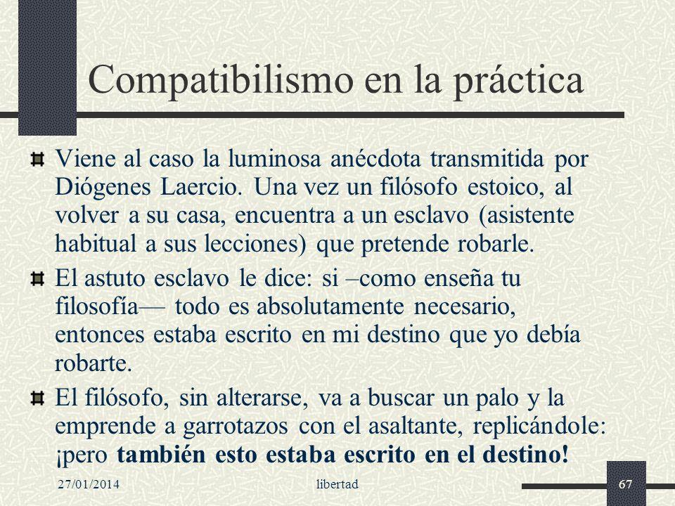 Compatibilismo en la práctica