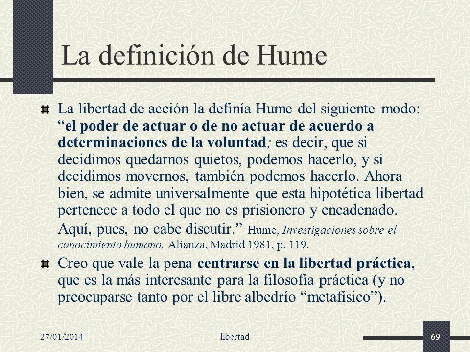 La definición de Hume