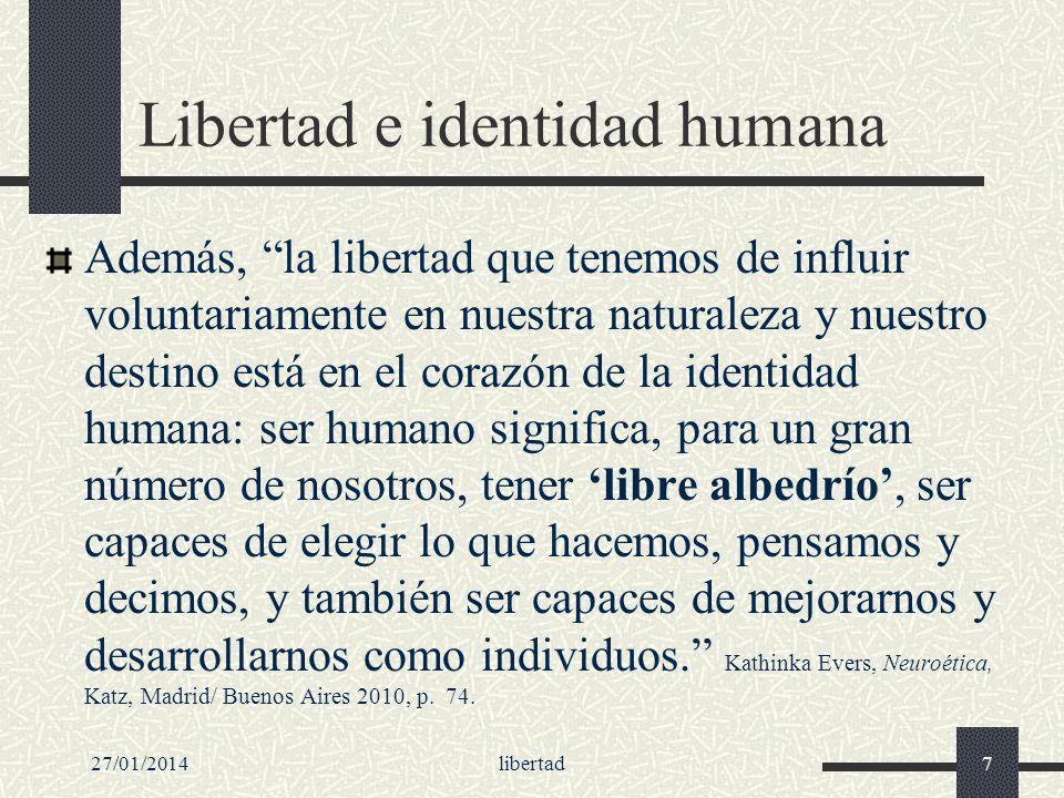 Libertad e identidad humana