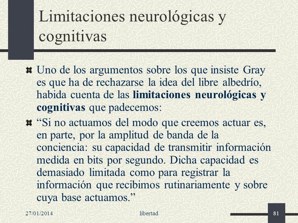 Limitaciones neurológicas y cognitivas