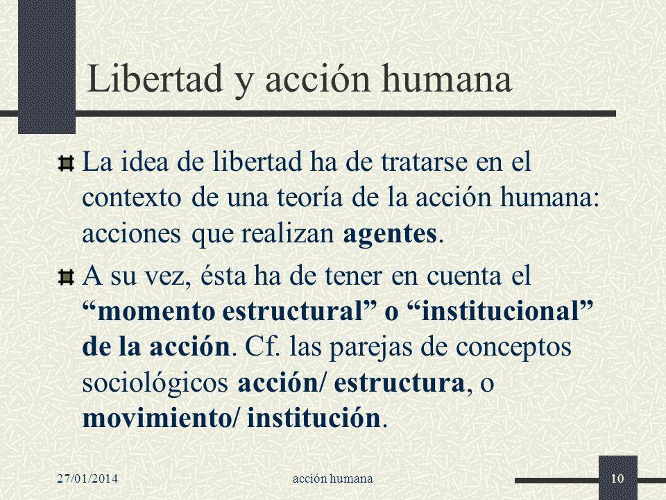 Libertad y acción humana