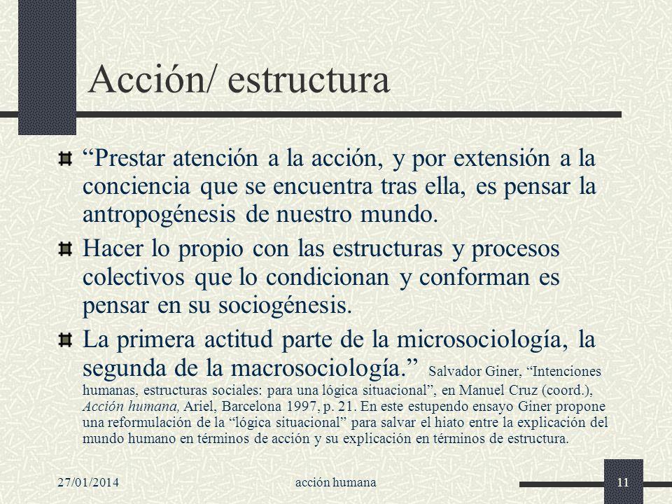 Acción/ estructura