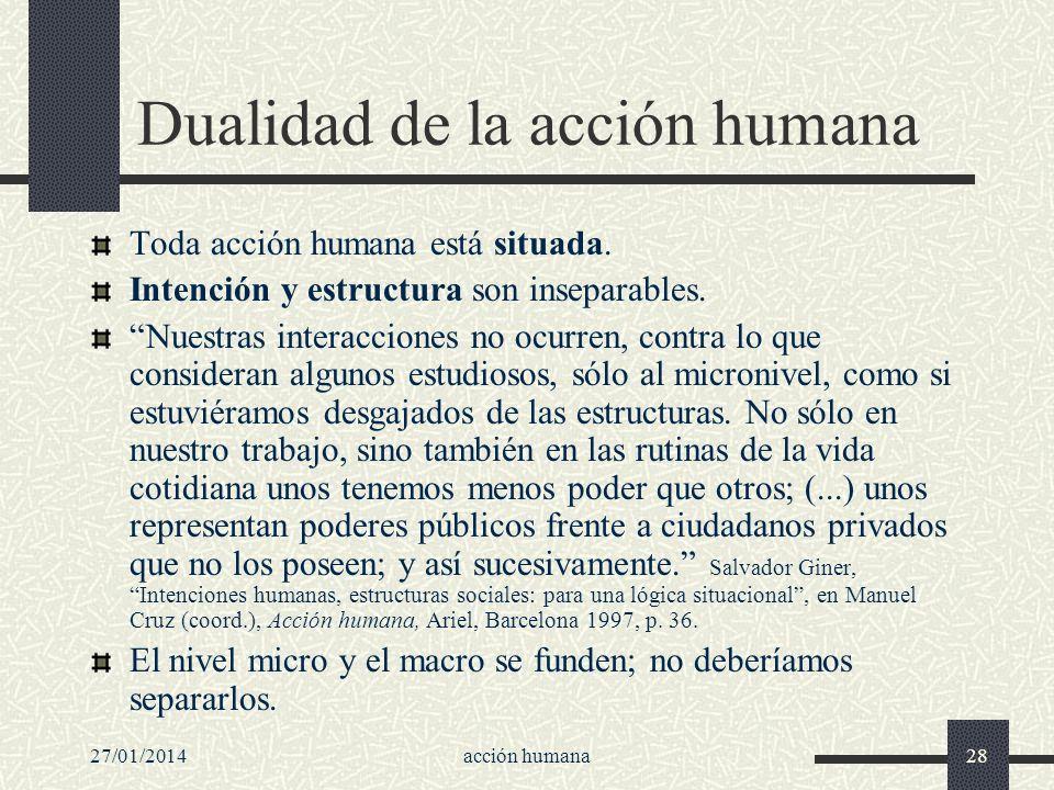 Dualidad de la acción humana