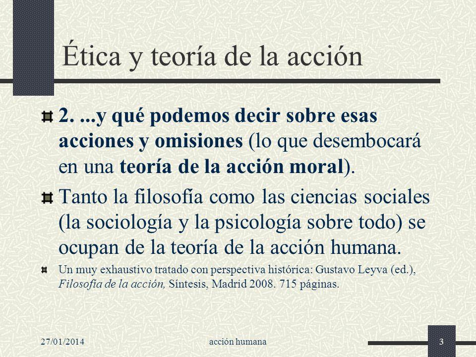 Ética y teoría de la acción