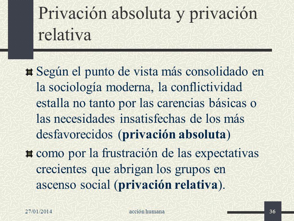 Privación absoluta y privación relativa