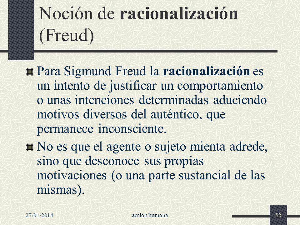Noción de racionalización (Freud)
