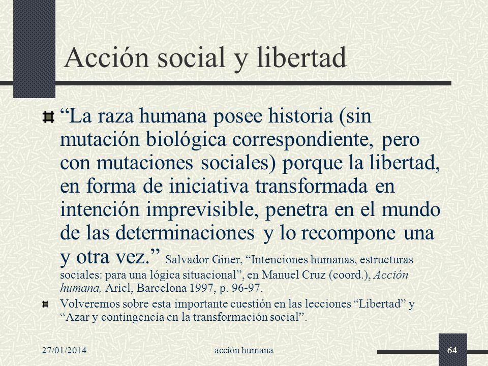 Acción social y libertad