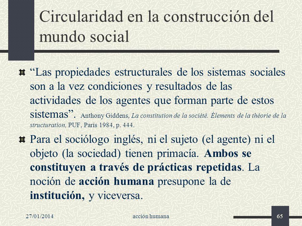 Circularidad en la construcción del mundo social