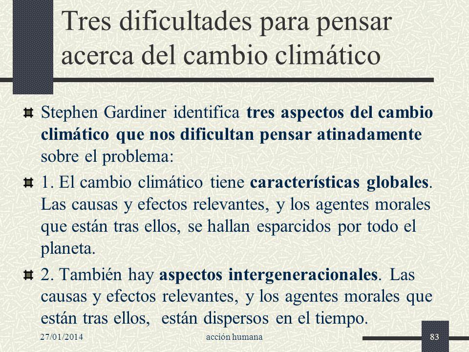 Tres dificultades para pensar acerca del cambio climático