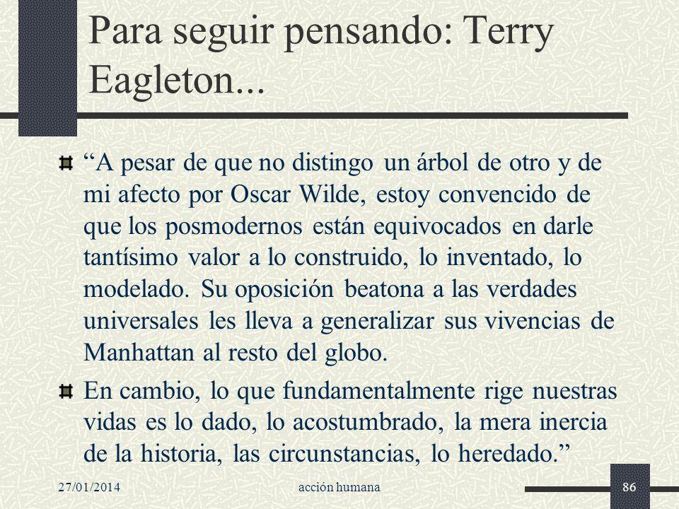 Para seguir pensando: Terry Eagleton...