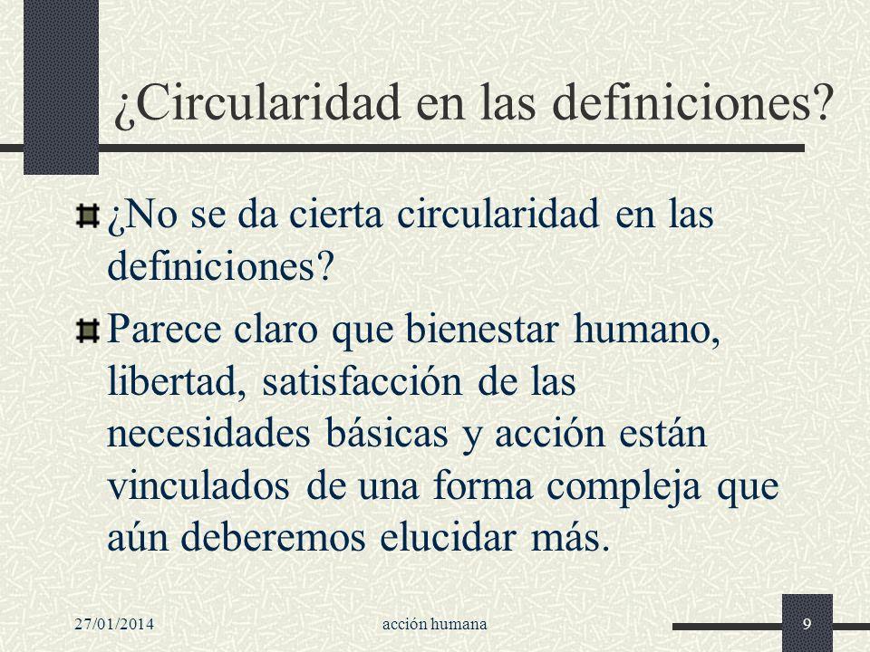 ¿Circularidad en las definiciones