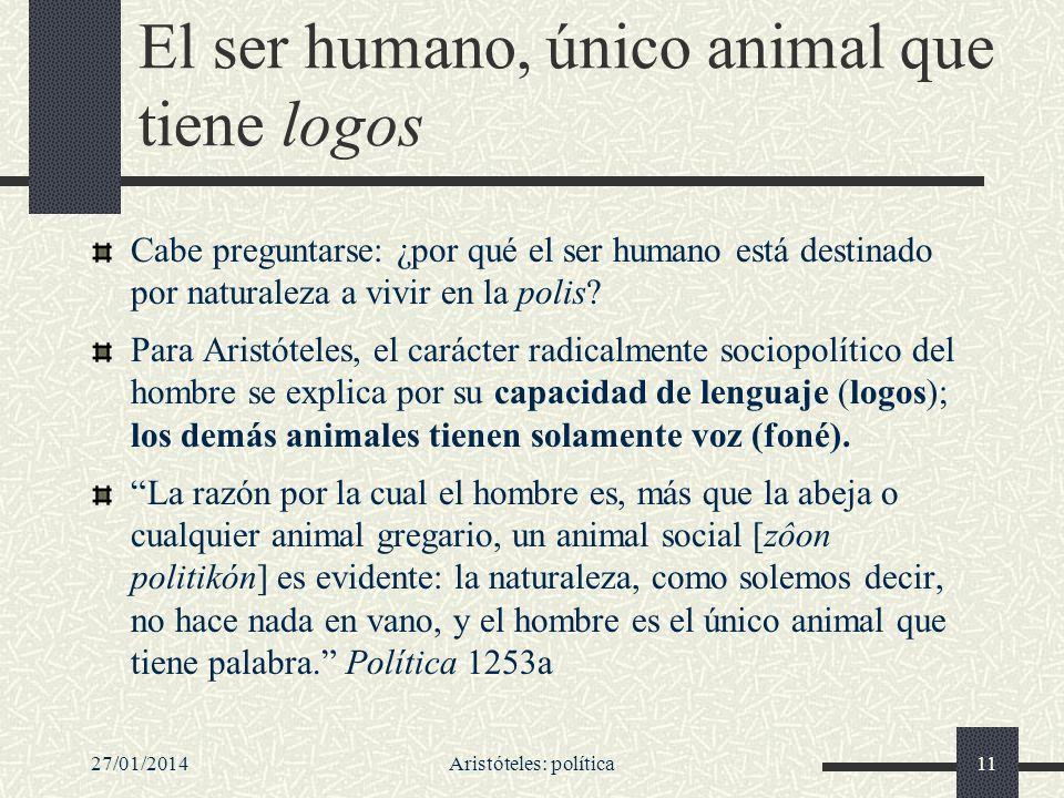 El ser humano, único animal que tiene logos
