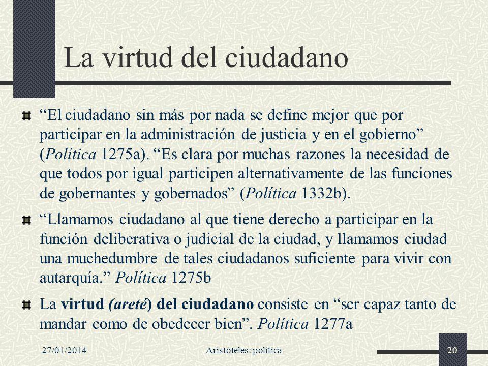 La virtud del ciudadano
