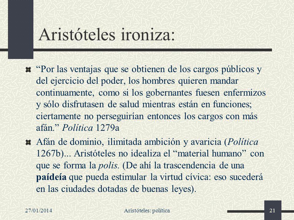 Aristóteles: política