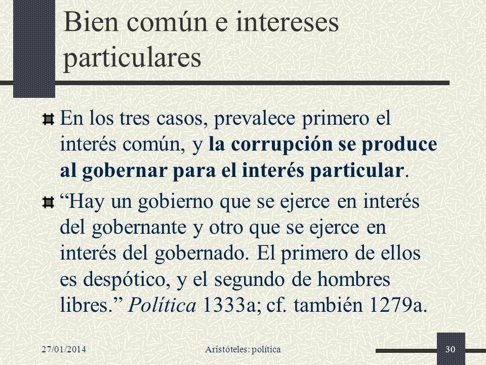 Bien común e intereses particulares