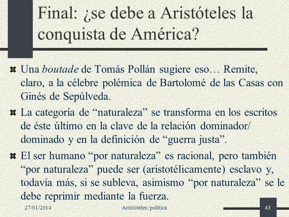 Final: ¿se debe a Aristóteles la conquista de América