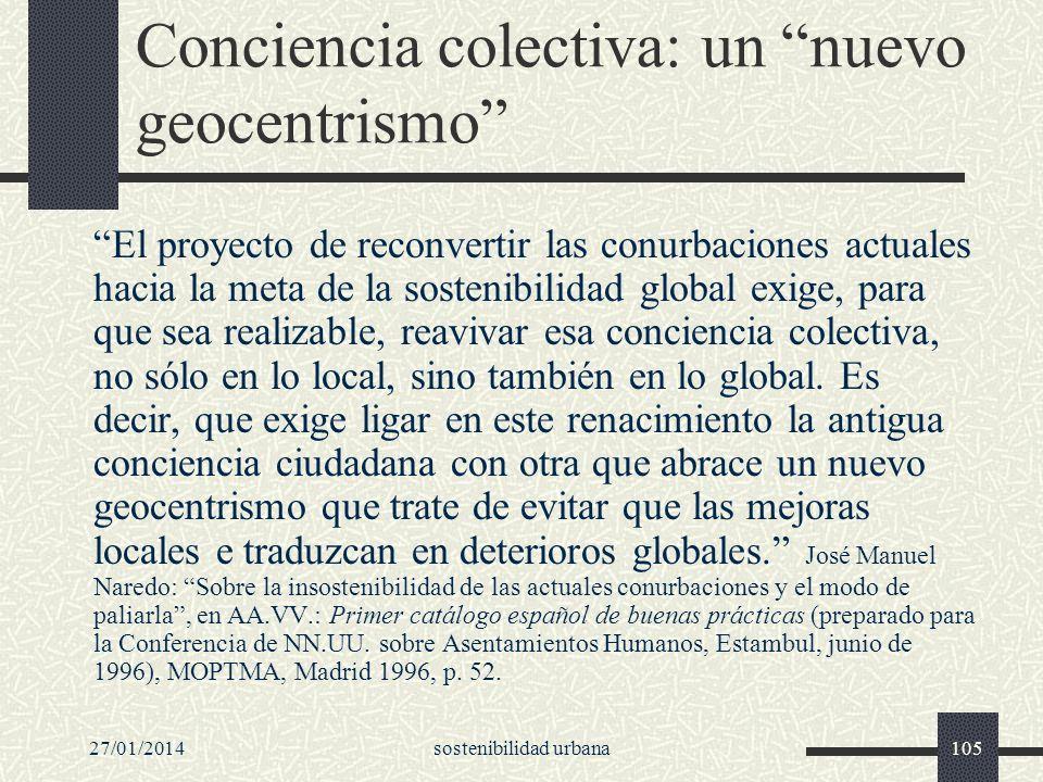 Conciencia colectiva: un nuevo geocentrismo