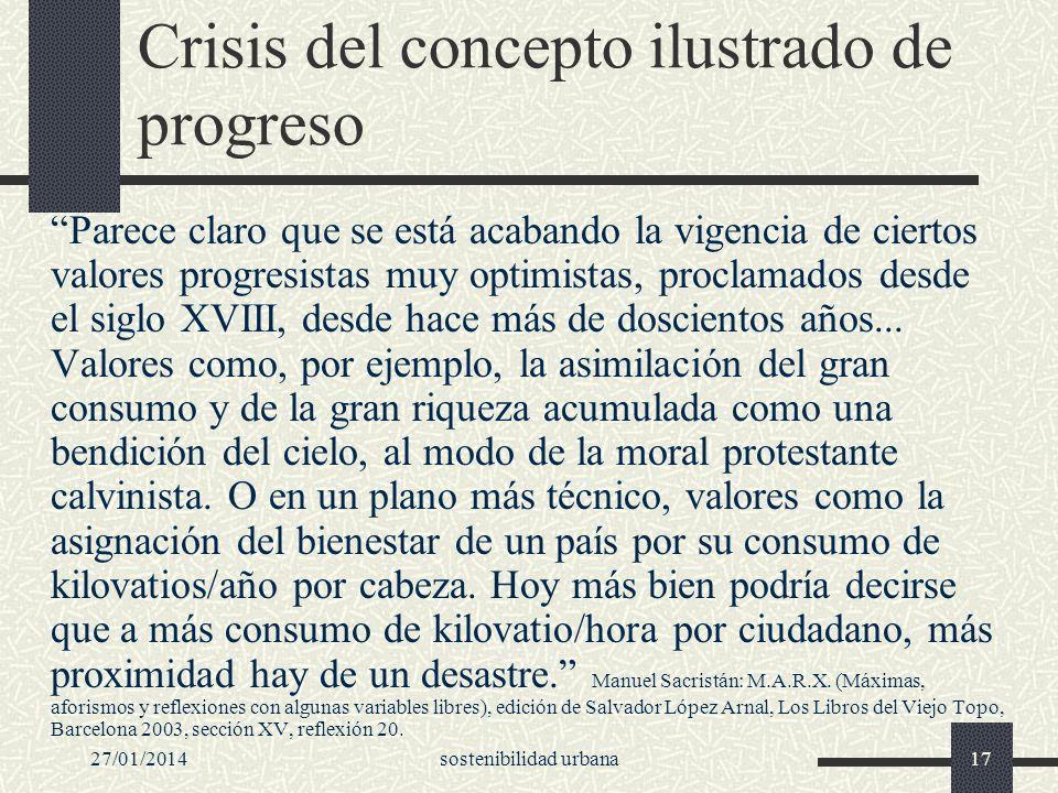 Crisis del concepto ilustrado de progreso