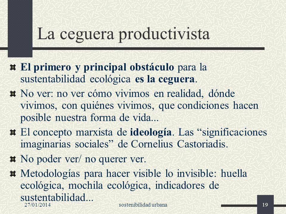 La ceguera productivista
