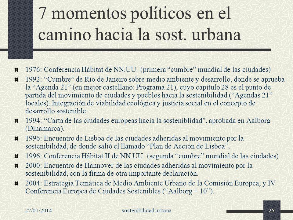 7 momentos políticos en el camino hacia la sost. urbana