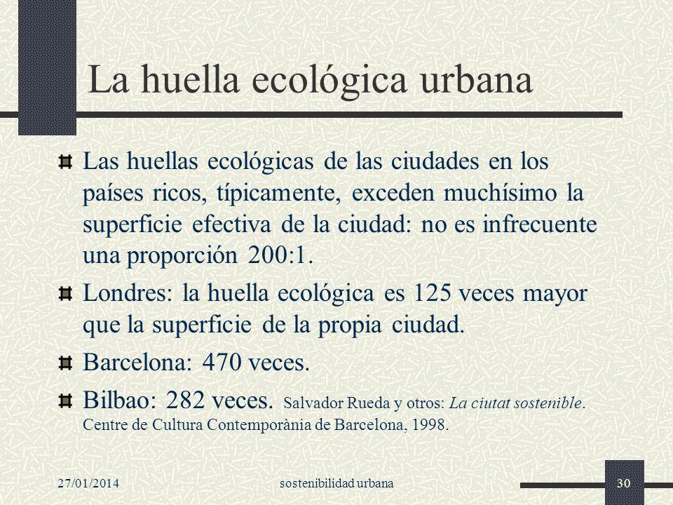 La huella ecológica urbana