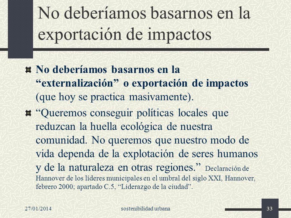 No deberíamos basarnos en la exportación de impactos