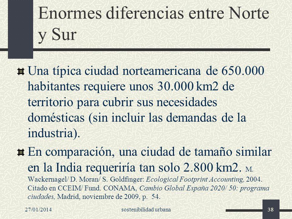 Enormes diferencias entre Norte y Sur