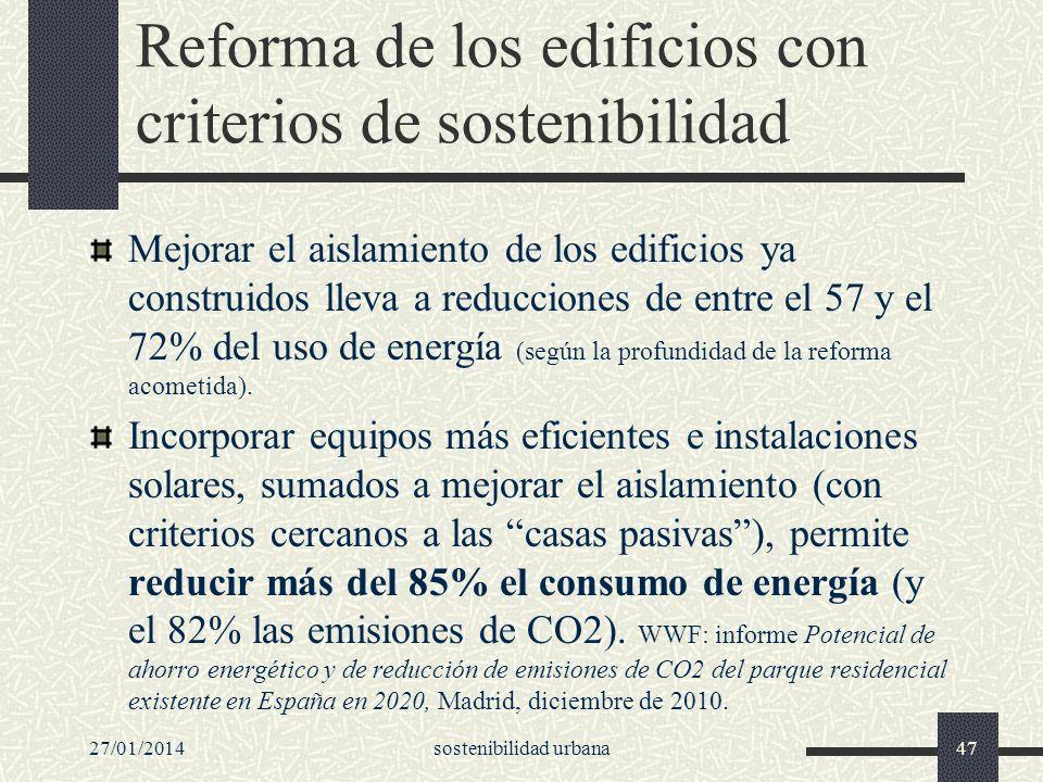 Reforma de los edificios con criterios de sostenibilidad