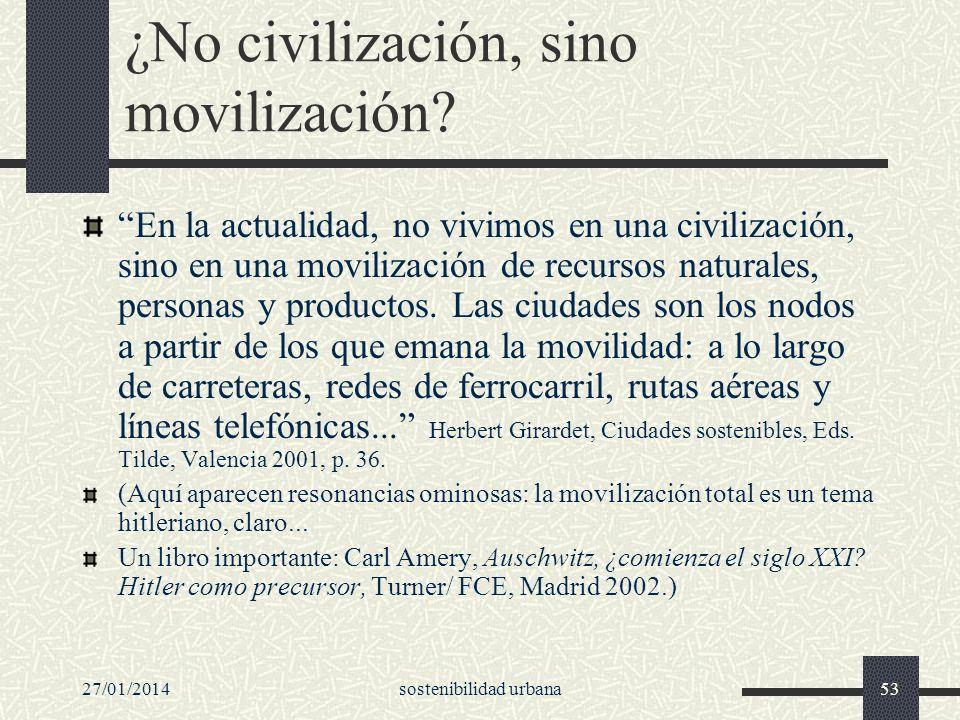 ¿No civilización, sino movilización